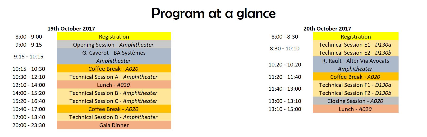 Program at a glance